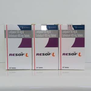 Resof L (Ресоф Л) - софосбувир + ледипасвир, 3 шт. на курс терапии